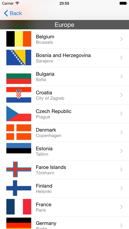 Countries in Europe screenshot-0