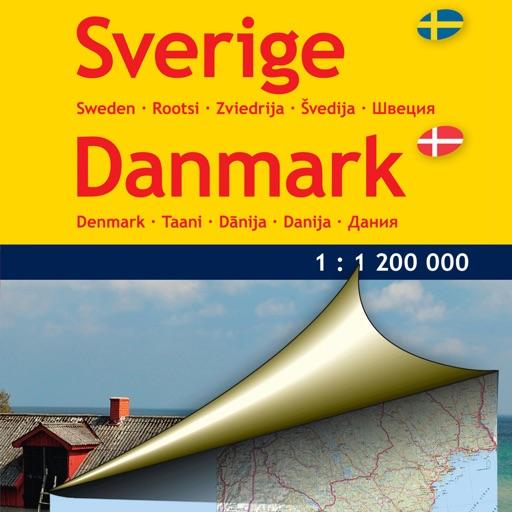 Sweden,Denmark. Road map
