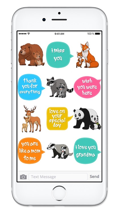 Cute Mom & Baby Animals Mothers Day Sticker Pack screenshot-4