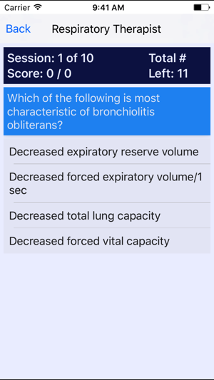 Respiratory Therapist Certification Review on the App Store
