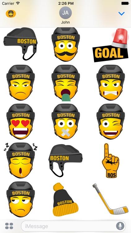 Boston Hockey Stickers & Emojis screenshot-3