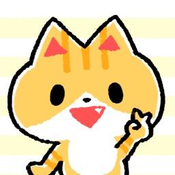Cute Cat Goemon Sticker