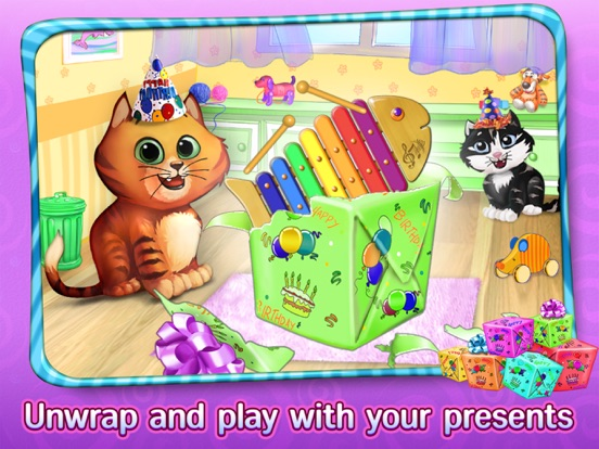 Игра Kitty Cat Birthday Surprise: Care, Dress Up & Play