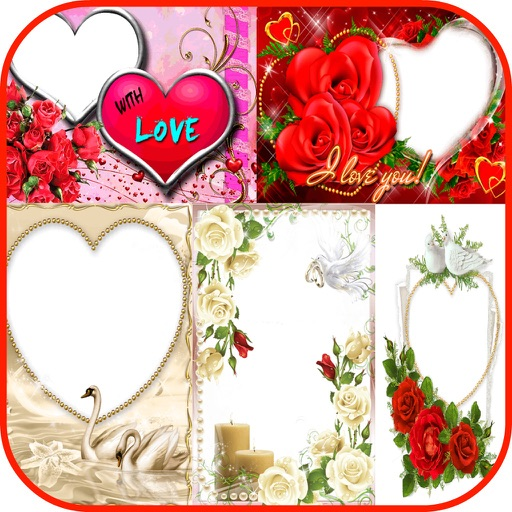 Valentine\'s Day Romantic Love Photo Frames by Janice Ong