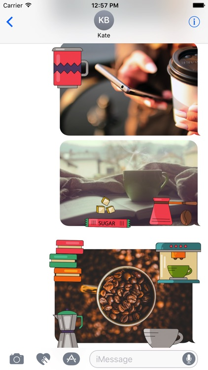 Animated Coffee Stickers
