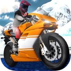 Activities of Extreme Motorbike Rider - Frozen Highway