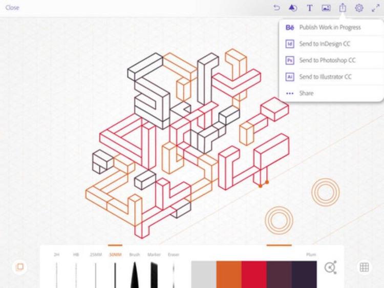 Architecture CAD - Interior Sketches Illustration