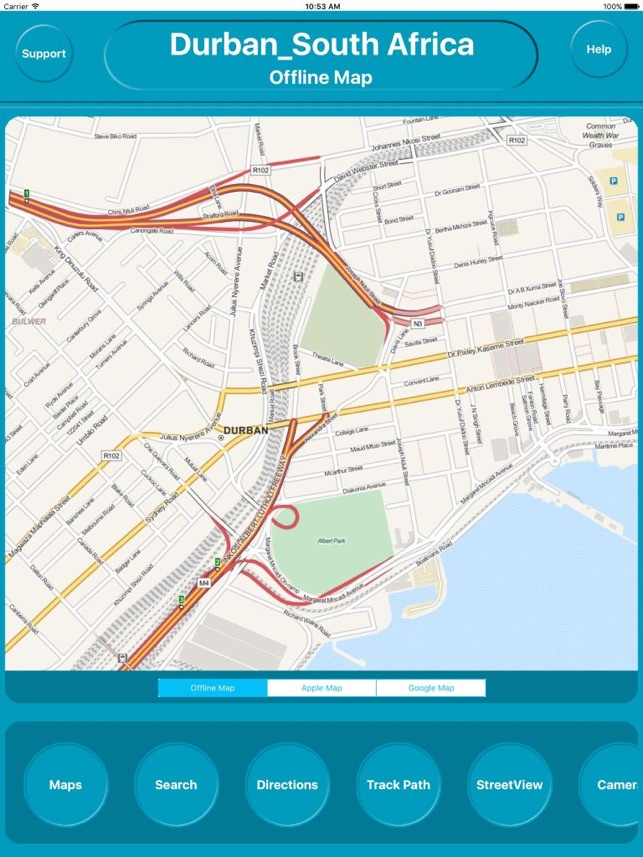 Durban South Africa Offline City Maps Navigation im App Store on