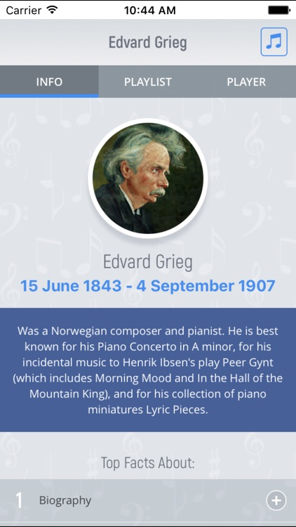 Edvard Grieg - Classical Music Full screenshot-0
