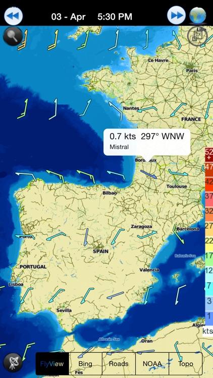 Wind NOAA forecast for windguru addicted people screenshot-3