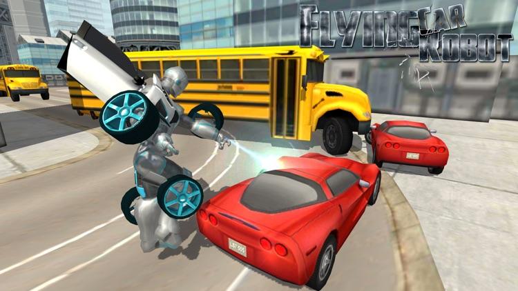 Flying Car Robot Flight Drive Simulator Game 2017 screenshot-3