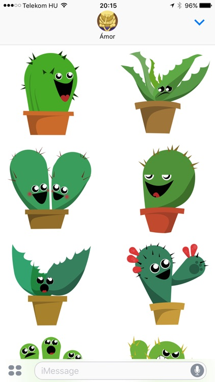 Lively Cactus Party the Summer Sticker Pack