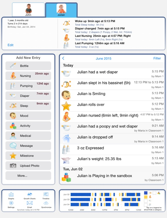 Baby Connect (Activity Log) for iPad