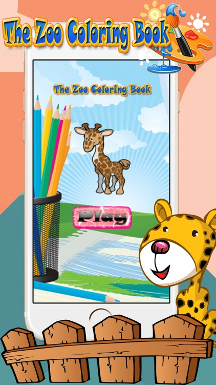 Zoo Animal Paint : coloring pages for girls & boys
