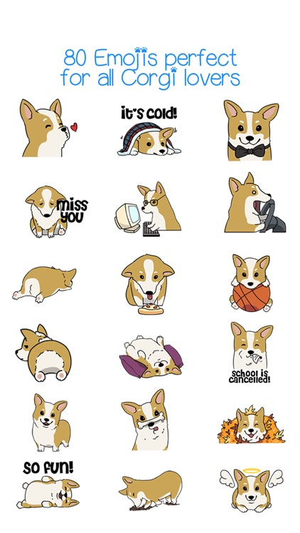 CorgMoji - Corgi Dog Pet Emoji Stickers! screenshot-3