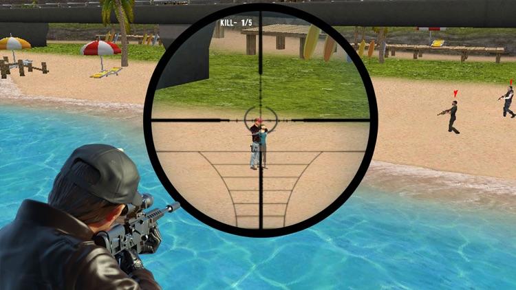 Sniper Shooter 3D - Modern Sniper War at Beach screenshot-3