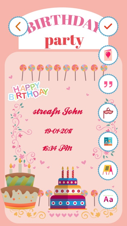 Birthday invitation card maker hd by bhavik savaliya birthday invitation card maker hd stopboris Images