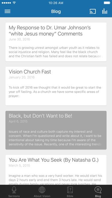 Vision RDU screenshot three