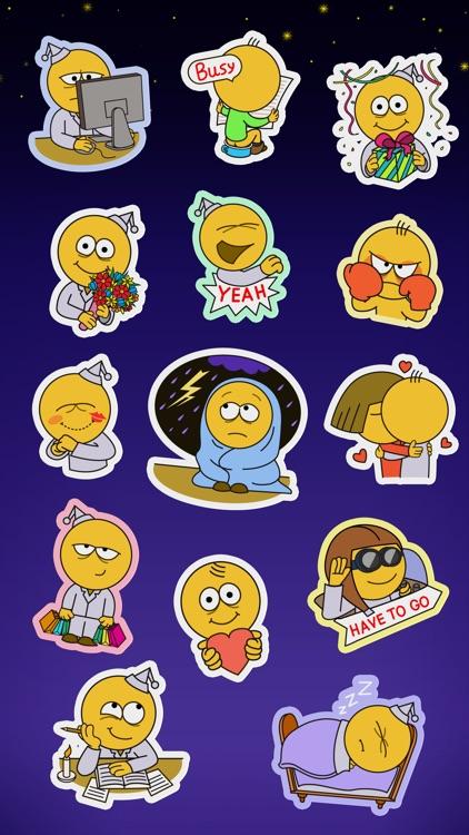 Sleepless Guy Stickers