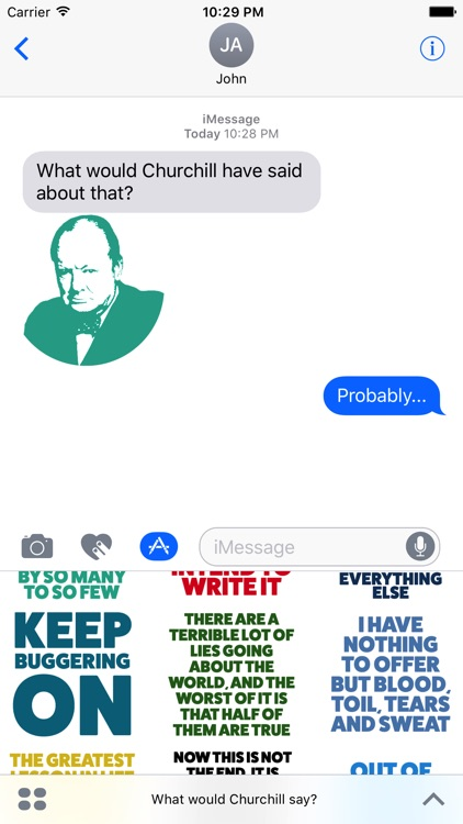 What would Churchill say Stickers screenshot-3