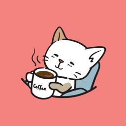 고양이 흰소의 일상(Hinso) animated - Monte Sticker