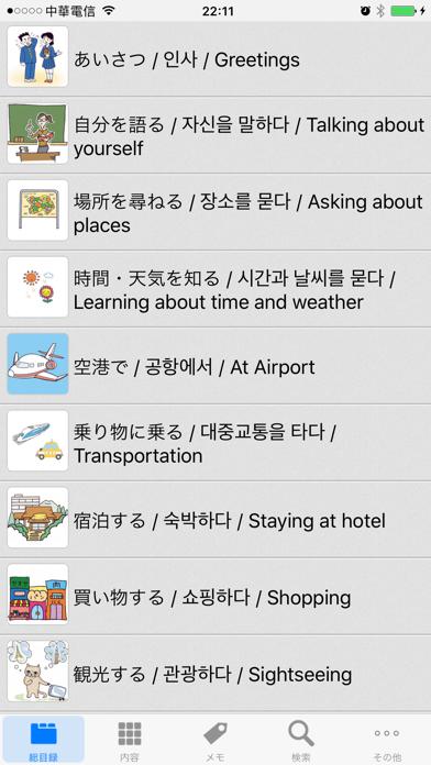 日韓英‧旅行会話辞書のおすすめ画像1