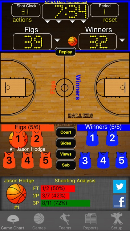 Ballers Basketball Stats screenshot-0