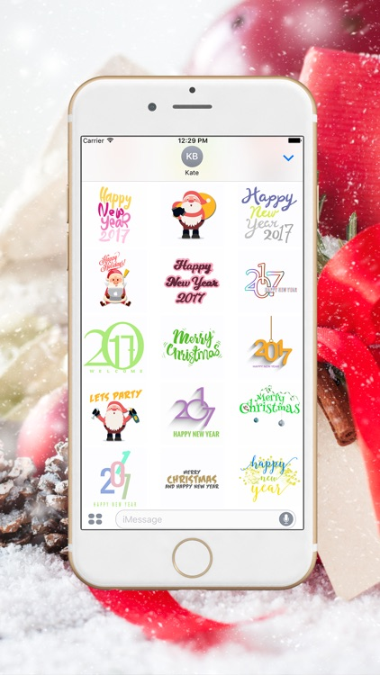 Merry Christmas Stickers 2017