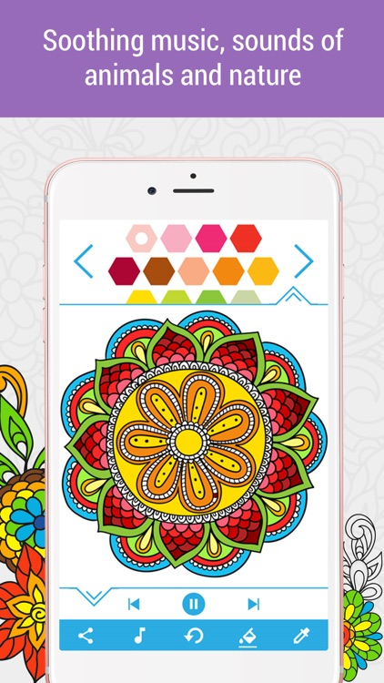 Anti-stress Coloring Book Calm screenshot-3
