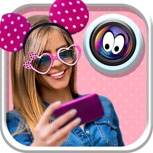 Cute Stickers Camera for Girls: Selfie Picture Decorator & Funny Face Photo Montage