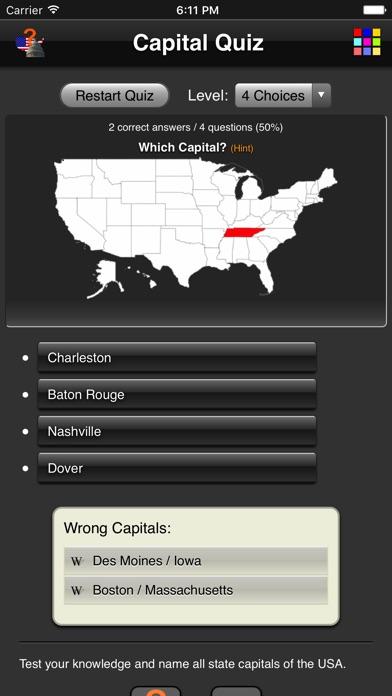 Capital Quiz review screenshots