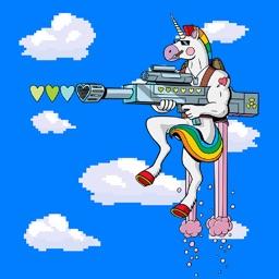Jetpack Unicorn Hero Fighter Game For Kids Free