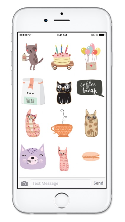 Cats and Coffee Sticker Pack screenshot-4