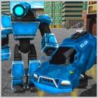 Футуристический робот полицейский автомобиль icon