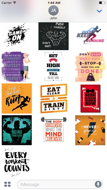 Fitness Motivation Sticker Pack