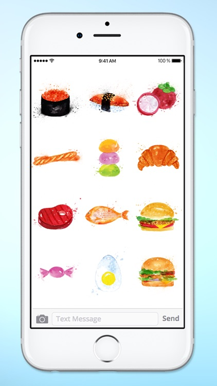 Whats For Dinner? Watercolor Food Sticker Pack screenshot-4