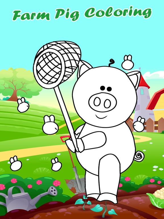 Screenshot 1 For Family Farm Papa Pig Coloring Book