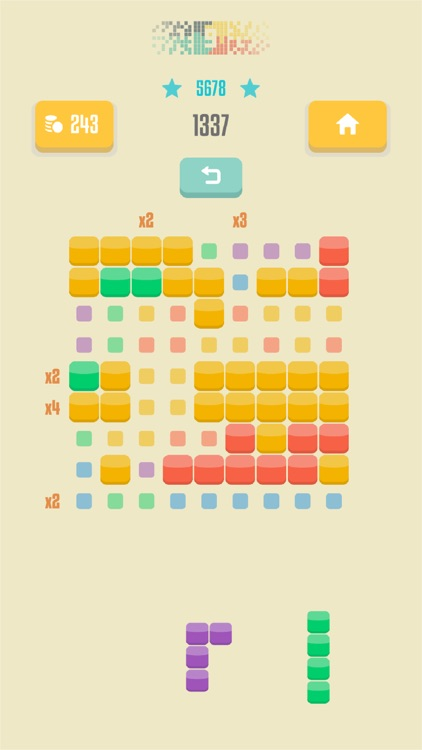 9squared! - Stack and match colored blocks puzzle screenshot-3