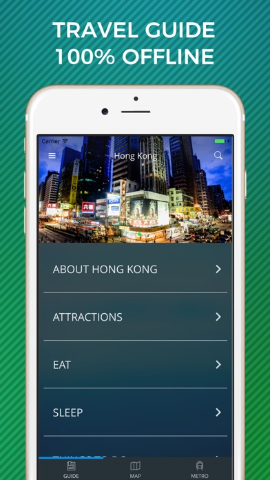 Hong Kong Travel Guide with Offline Street Map
