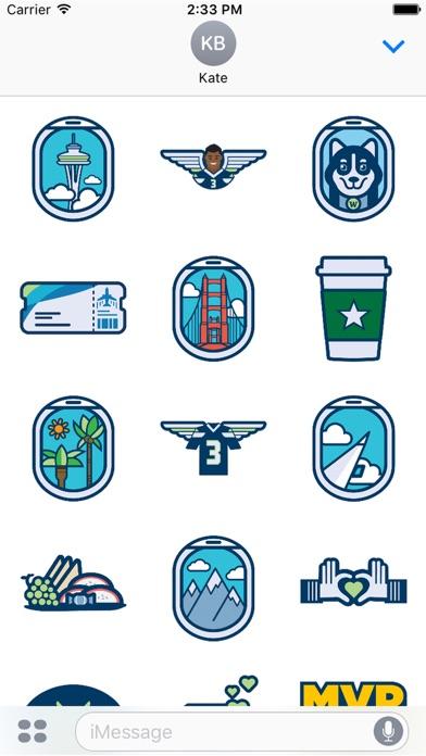Alaska Airlines Stickers-1