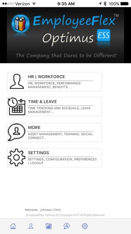 EmployeeFlex Optimus ESS (Employee Self-Service)