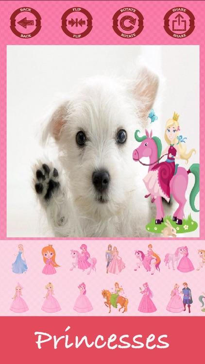 Princesses photo editor sticker maker screenshot-4