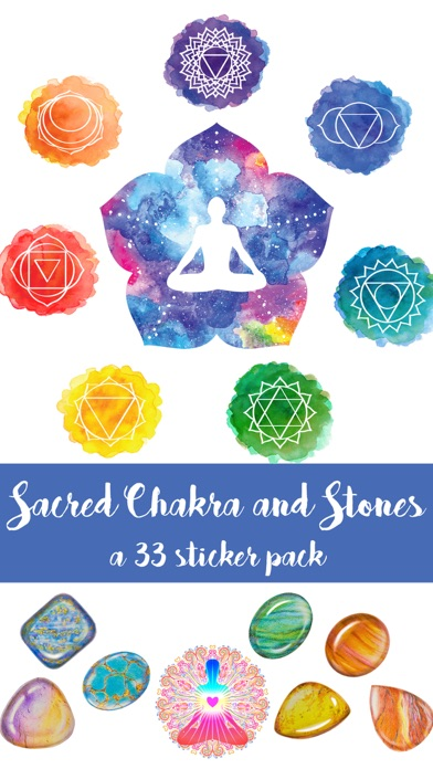 Sacred Chakra and Stones Sticker Pack