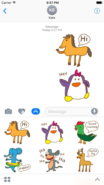 Animal Sticker.funny doodle stickers for iMessage