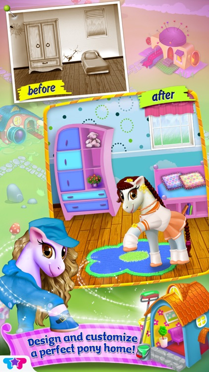 Pony Care Rainbow Resort - Enchanted Fashion Salon screenshot-4