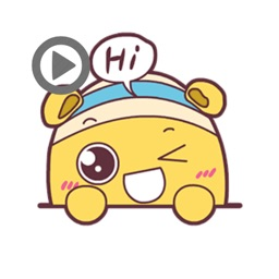 Shiro Hamster animated stickers
