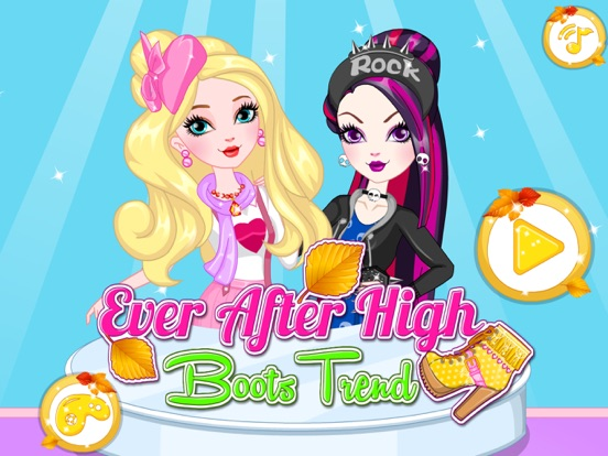 Ever After High Boots Trend Girl Games на iPad