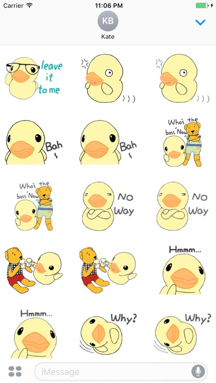 Stupid Little Duck English Sticker screenshot-3