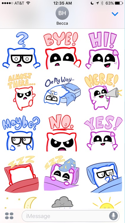 Pillow Fighters Stickers