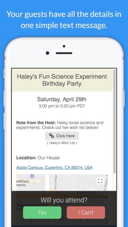 Invitd - Invitation Maker & RSVP by Text Message